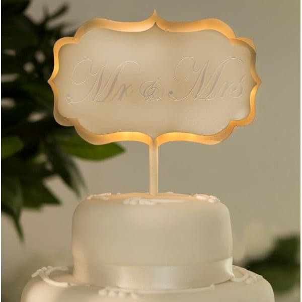 Svatební dekorace na dort s LED světly Cake Cream