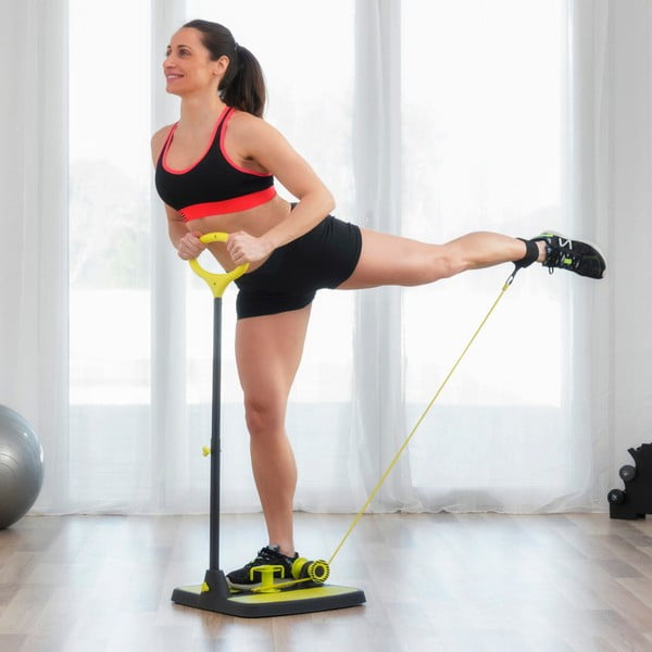Platformă fitness cu ghid de exerciții pentru mușchii fesieri şi picioare InnovaGoods Fitness