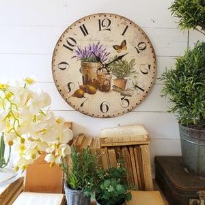 Nástěnné hodiny Orchidea Herbs