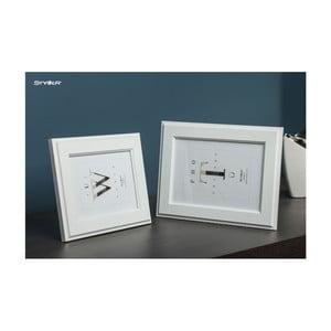 Bílý rámeček na fotografii Styler Malmo, 40x50cm