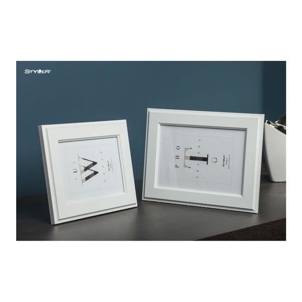 Biała ramka na zdjęcia Styler Malmo, 40x50 cm