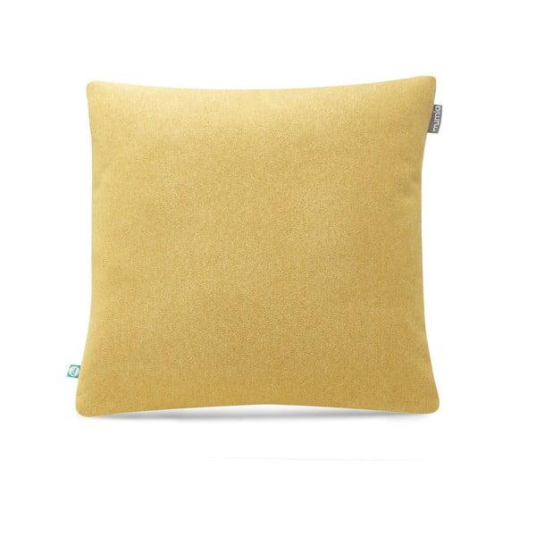 Žlutý povlak na polštář Mumla Felt, 45 x 45 cm