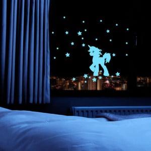 Svítící samolepka Fanastick Unicorn With Stars