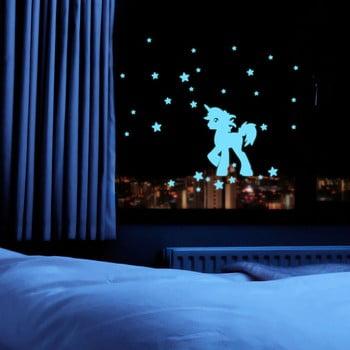 Autocolant fosforescent Fanastick Unicorn With Stars