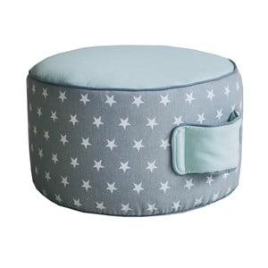 Mentolovo-šedý sedací puf VIGVAM Design Stars