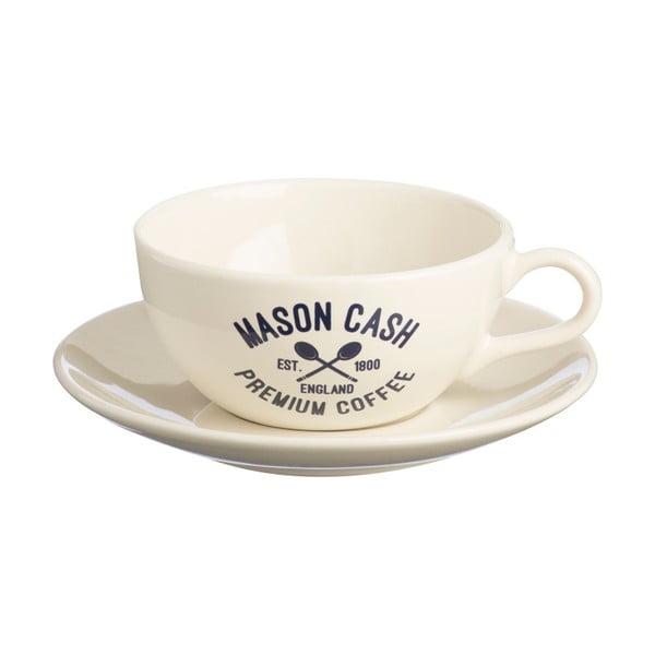 Biała filiżanka ze spodkiem Mason Cash Varsity Cappuccino