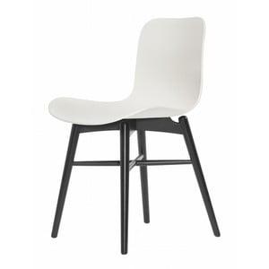 Bílá jídelní židle z masivního bukového dřeva NORR11 Langue Stained