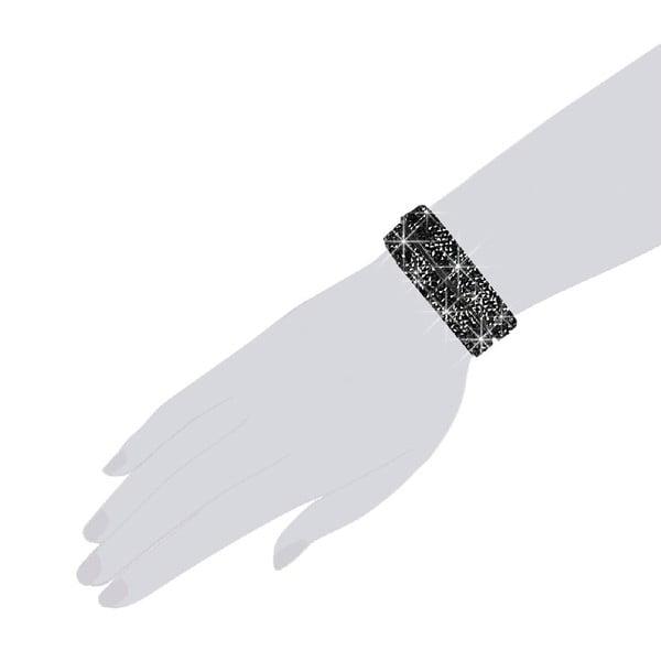 Náramek Black Shine, 34 cm