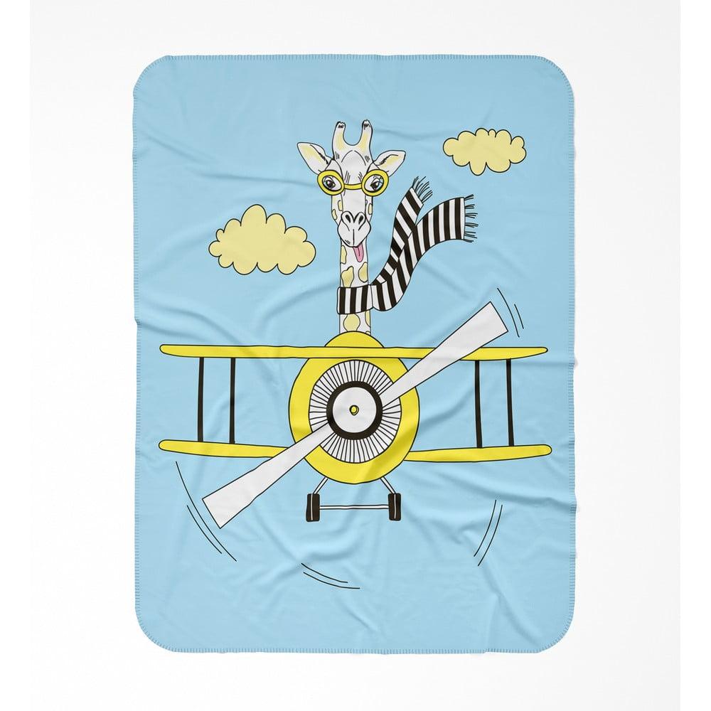 Dětská deka OYO Kids Plane, 120 x 160 cm