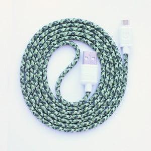 Nabíjecí kabel Micro USB Wooke Green Camo,1,5 m