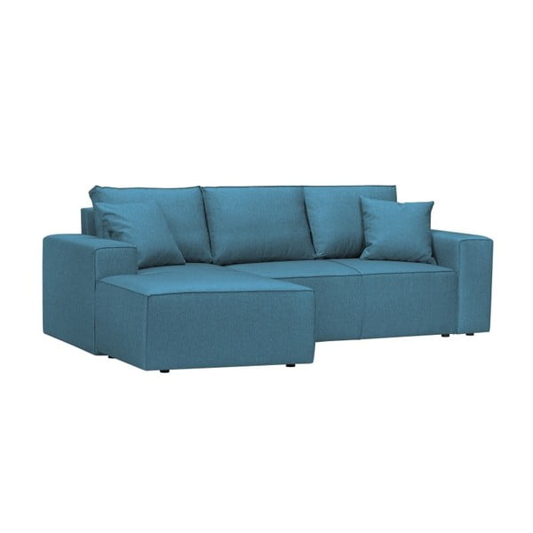 Modrá 3místná pohovka HARPER MAISON Cornelia, levý roh