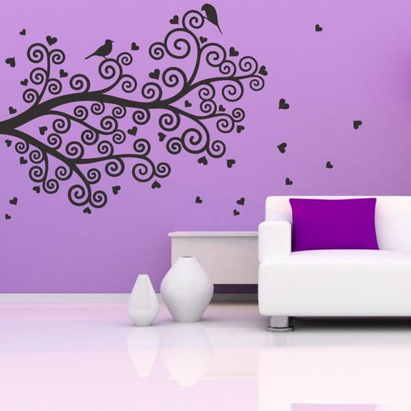 Dekorativní nálepka na stěnu Spiral Tree