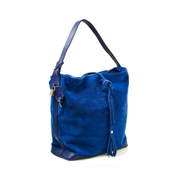 Kožená kabelka Stefie, modrá