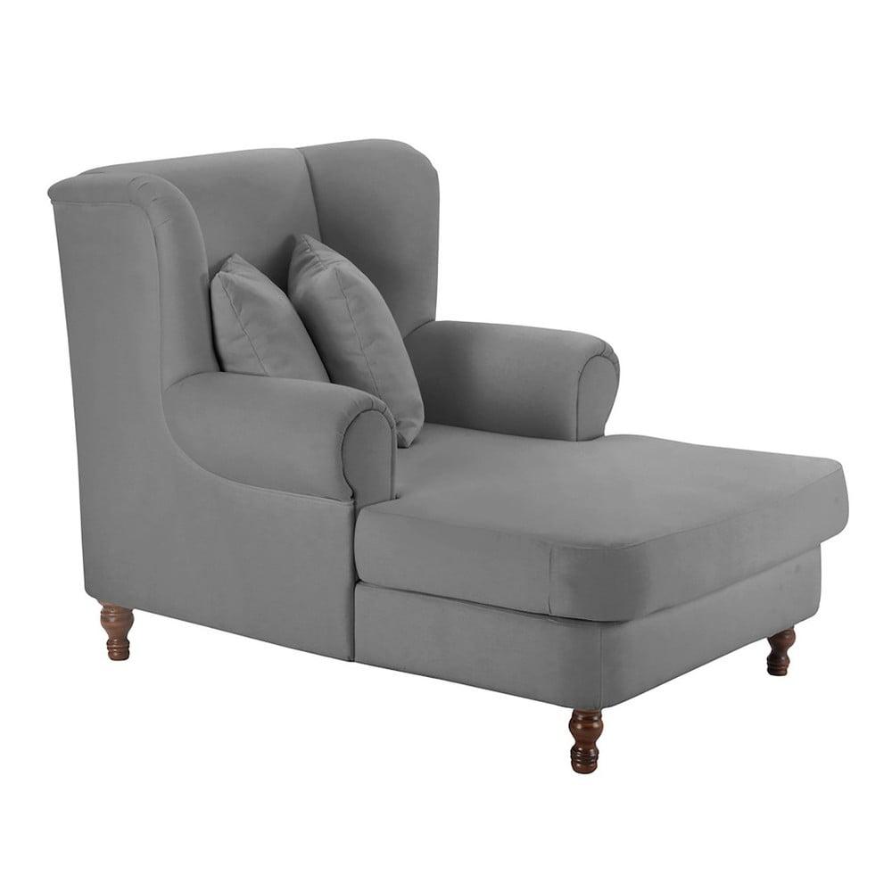 fotoliu max winzer mareille velour gray gri bonami. Black Bedroom Furniture Sets. Home Design Ideas