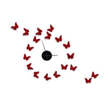 Ceas de perete autocolant Mauro Ferretti Butterflies 80 x 100 cm
