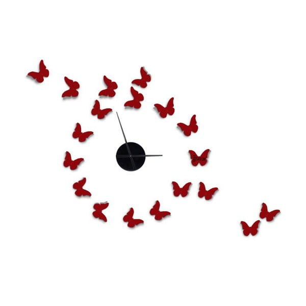 Ceas de perete autocolant Mauro Ferretti Butterflies, 80 x 100 cm