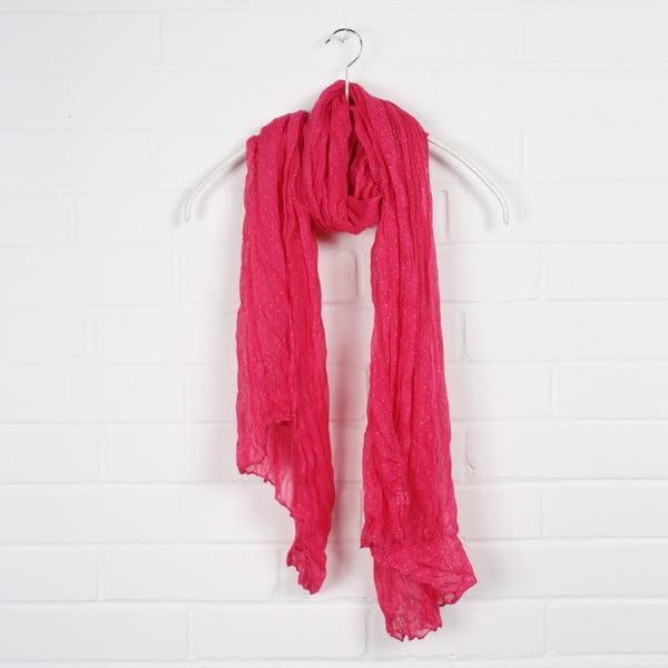 Šátek Polka Dot Hot Pink