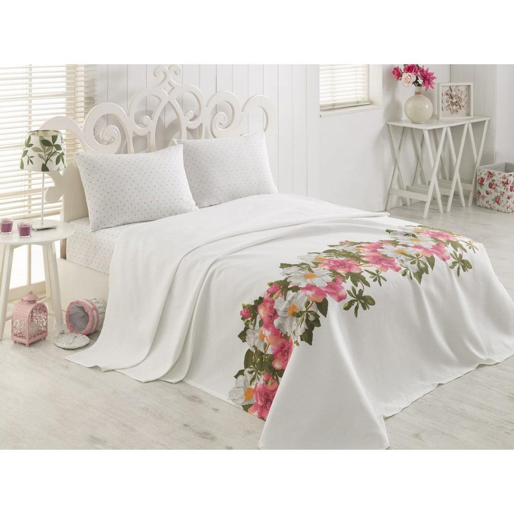 Lehký bavlněný na dvoulůžko postel Palma, 200 x 230 cm