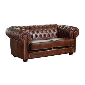 Canapea din piele cu 2 locuri Max Winzer Norwin maro