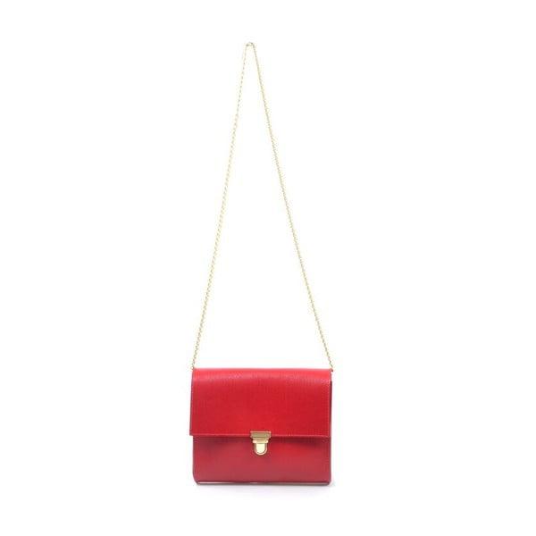Kožená kabelka Jennifer, červená