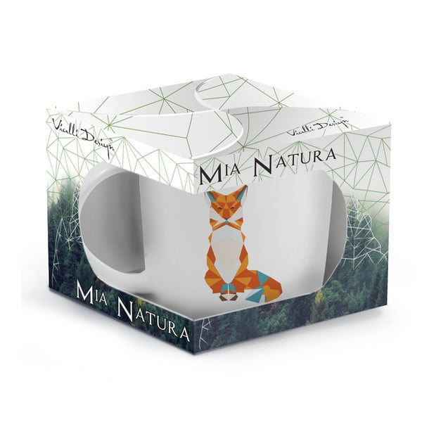 Hrnek z kostního porcelánu Vialli Design Wild Fox, 370ml