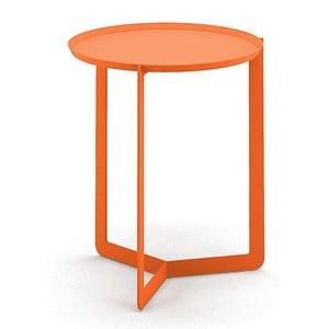 Oranžový příruční stolek MEME Design Round, Ø40cm