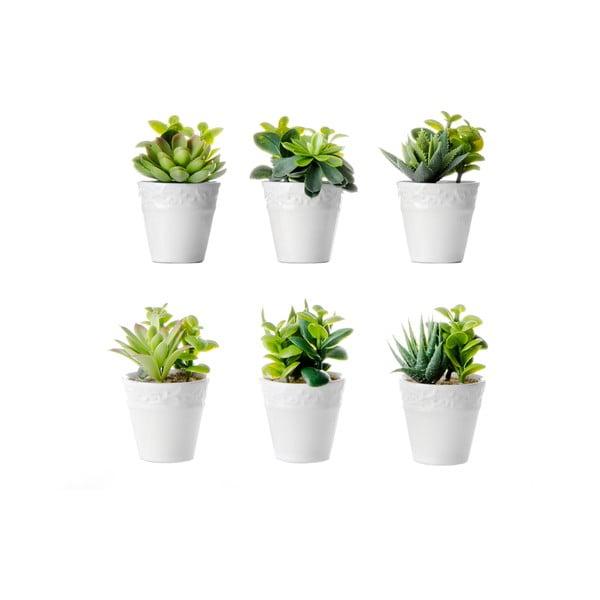 Set 6 flori artificiale cu ghiveci Unimasa