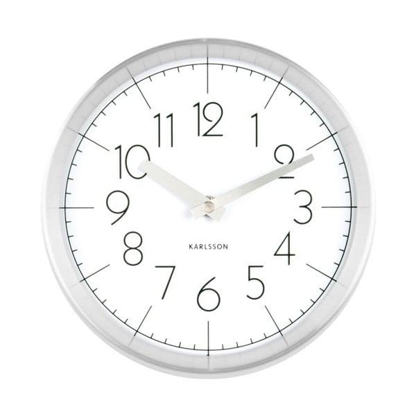 Bílé nástěnné hodiny Karlsson Convex