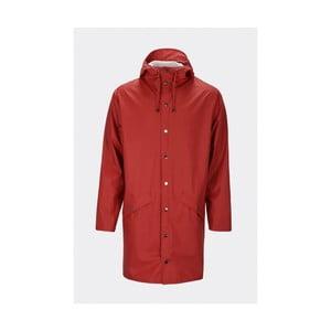 Tmavě červená unisex bunda s vysokou voděodolností Rains Long Jacket, velikost L/XL