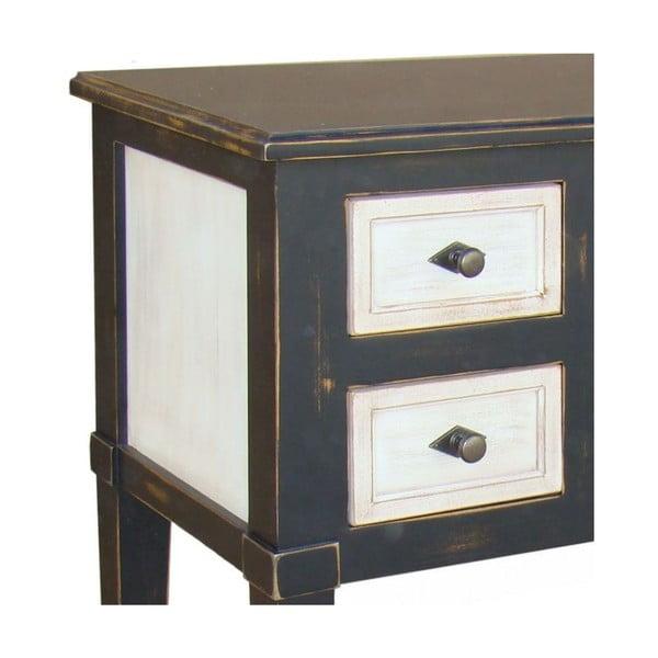 Odkládací stolek se 6 zásuvkami Transilvania Erased Black White