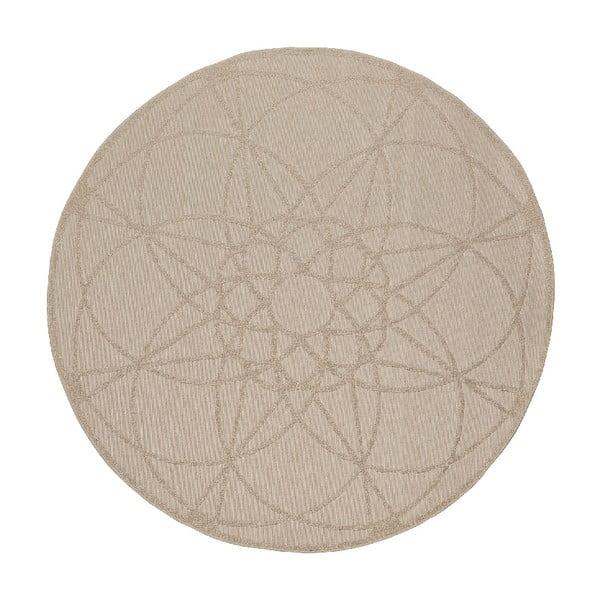 Vysoce odolný koberec vhodný do exteriéru Webtappeti Tondo Ecru, ⌀ 194 cm