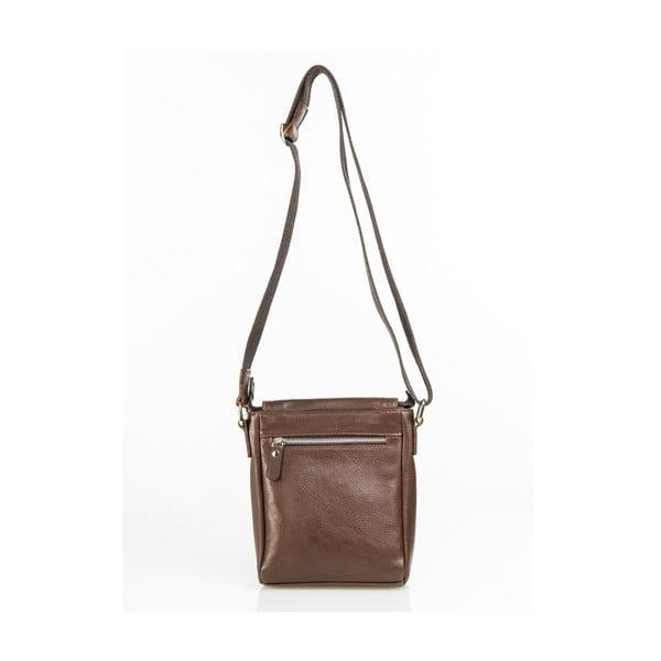 Kožená taška Florian, hnědá