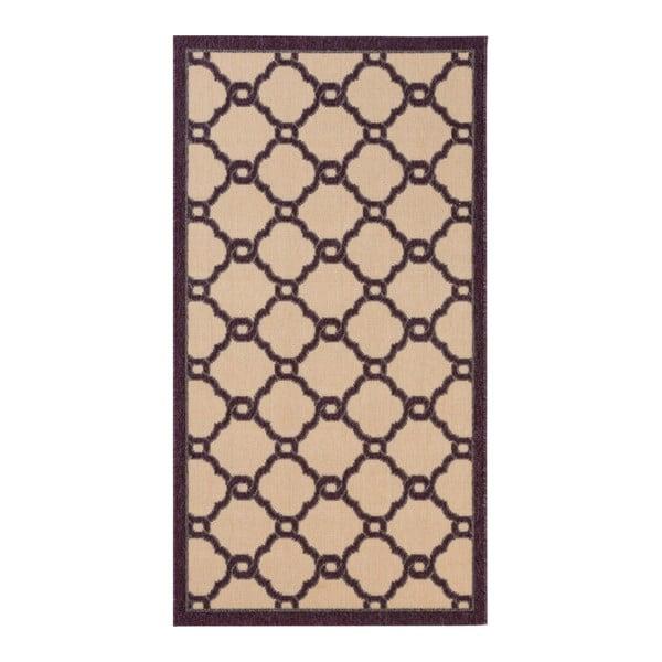 Béžovo-fialový koberec vhodný do exteriéru Vernada Grape, 150 x 80 cm