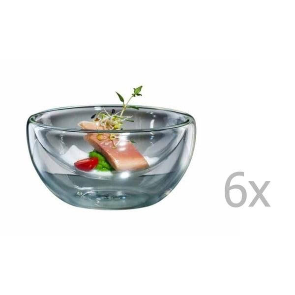 Sada 6 velkých skleněných mističek bloomix