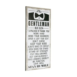 Cedule Gentleman rules, 60x30 cm