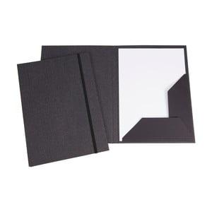 Šedá obálka na dokumenty s elastickým zapínáním Bigso, velikost A4