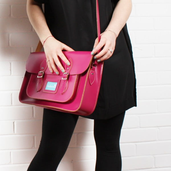 """Kabelka Satchel 14"""", Vintage Pink"""