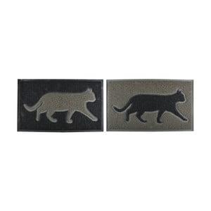 Sada 2 rohoží Esschert Design Kočka, 44,5x74,8cm