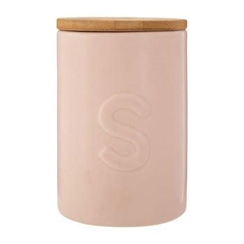 Recipient pentru zahăr, capac din lemn de bambus Premier Housewares Fenwick, roz imagine