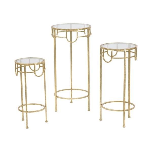 Sada 3 stolíkov v zlatej farbe Mauro Ferretti Lorenzo