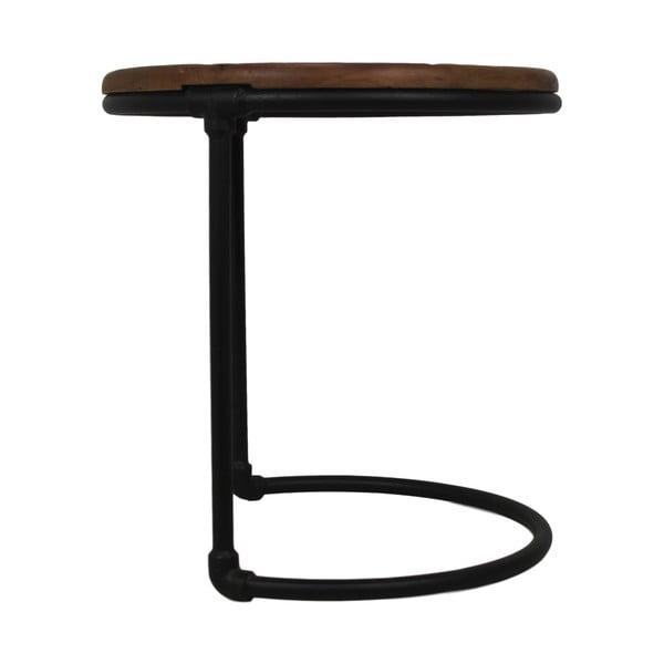 Odkládací stolek s deskou z teakového dřeva HSM collection, ⌀45cm