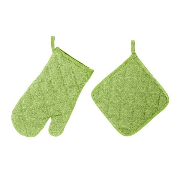 Set mănușă și șervet termic Unimasa, verde