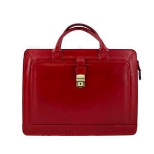 Červená pánská kožená taška Luciano Calboni Alberto