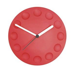 Magnetické hodiny na lednici, červené
