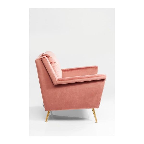 Růžové křeslo Kare Design San Diego