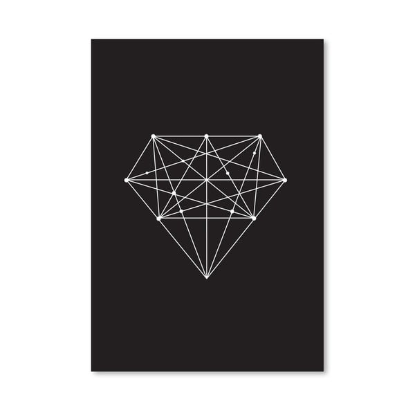 Plakát Diamond Black, 42x60 cm