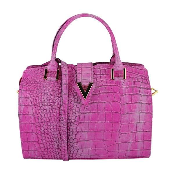 Kožená kabelka Valentina Pink