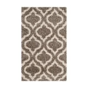 Šedohnědý koberec Safavieh Mati, 91 x 152cm