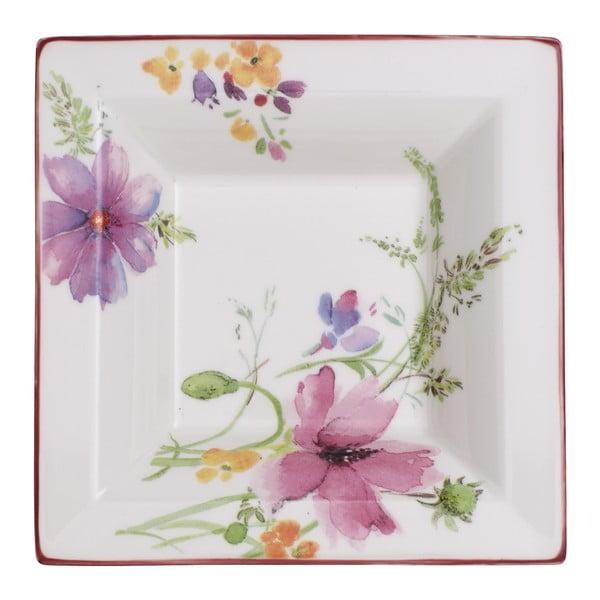 Hranatá porcelánová miska s motívom kvetín Villeroy & Boch Mariefleur Gifts