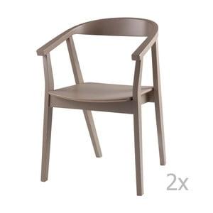 Set 2 scaune sømcasa Donna, gri deschis